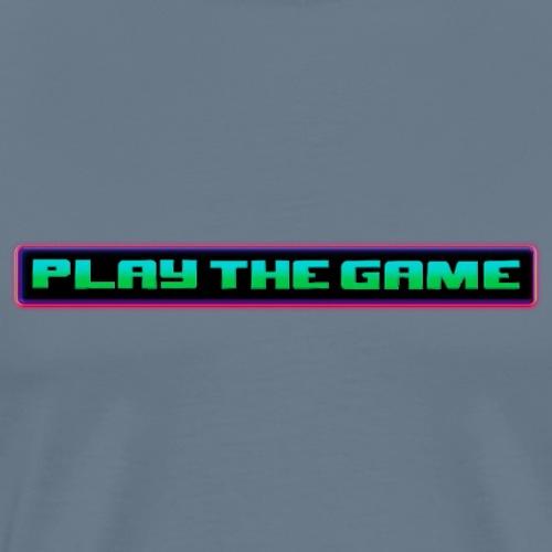 Play The Game - 80's Neon Logo - Men's Premium T-Shirt