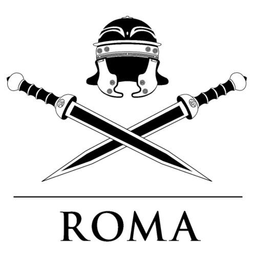 elmo romano e spade, con testo ROMA - Maglietta Premium da uomo