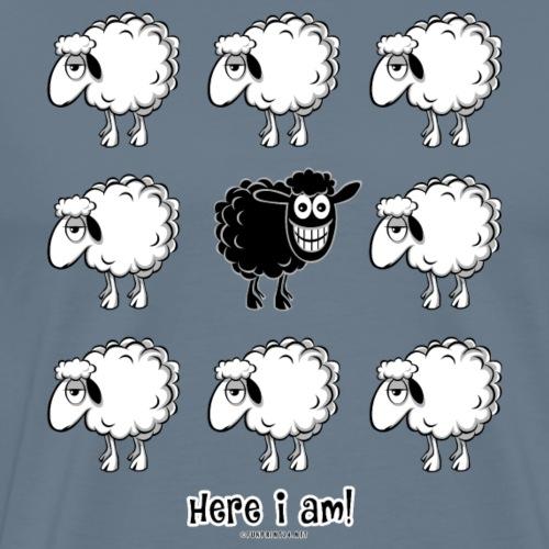 BLACK SHEEP - Here i am - textiles, gifts 10-44 - Miesten premium t-paita