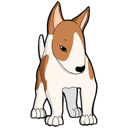 Bull Terrier bianco fulvo - Maglietta Premium da uomo