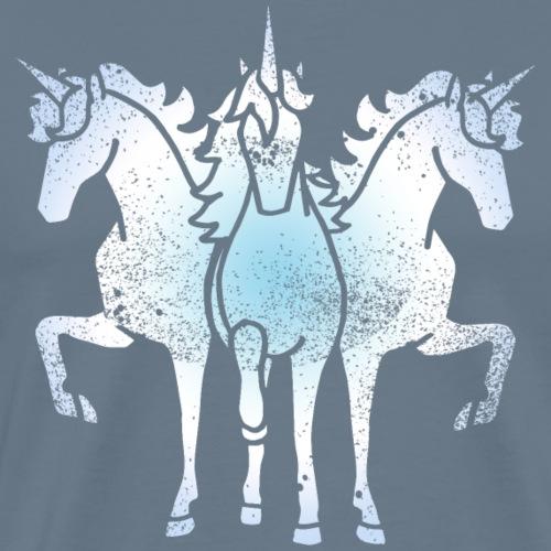 Einhorn Troika metal grunge lustige Geschenkidee - Männer Premium T-Shirt