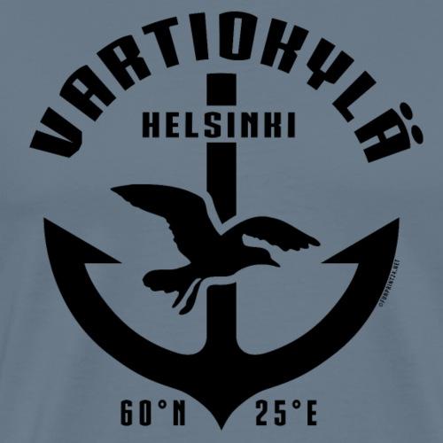 Vartiokylä Helsinki Ankkuri tekstiilit ja lahjat - Miesten premium t-paita