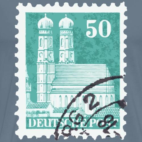 München Briefmarke 50er 1948 Grün - Männer Premium T-Shirt