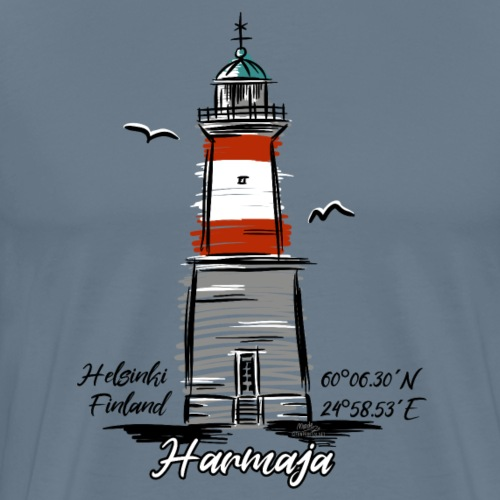 HARMAJA MAJAKKA Helsinki Boating Textiles, gifts - Miesten premium t-paita