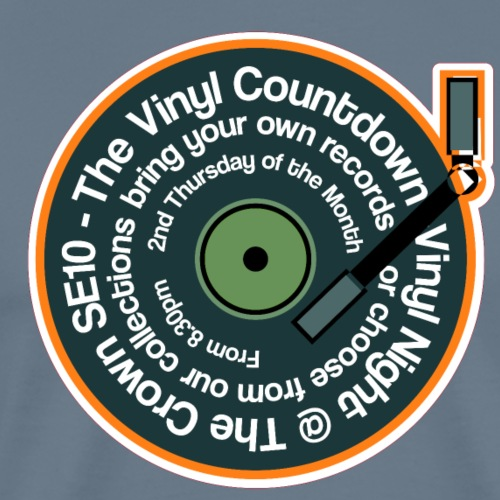 Vinyl Countdown Logo T Shirt - Men's Premium T-Shirt