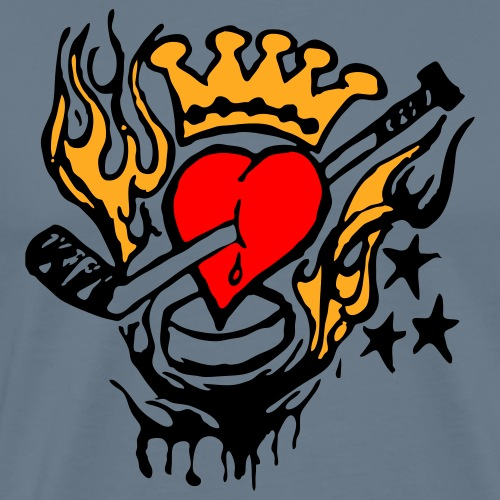 heartforhockey - Männer Premium T-Shirt