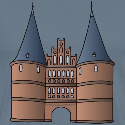 Holstentor Lübeck c - Maglietta Premium da uomo