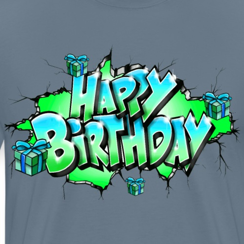 GRAFFITI HAPPY BIRTHDAY PRINTABLE ON EVERYTHING - T-shirt Premium Homme