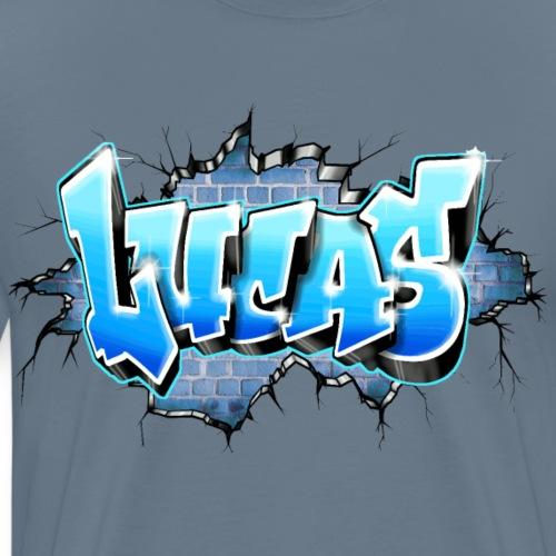 LUCAS GRAFFITI TAG PRINTABLE BY MAX LE TAGUEUR - T-shirt Premium Homme