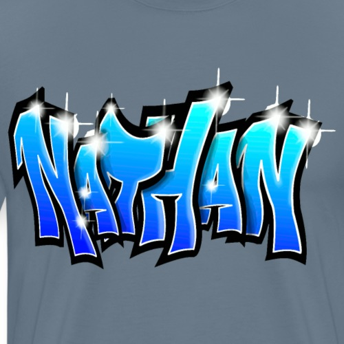 NATHAN GRAFFITI TAG PRINTABLE BY MAX LE TAGUEUR - T-shirt Premium Homme