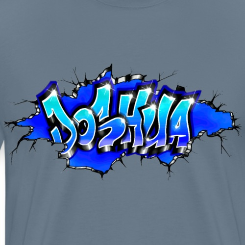 GRAFFITI JOSHUA WALL BROKEN BLUE - T-shirt Premium Homme