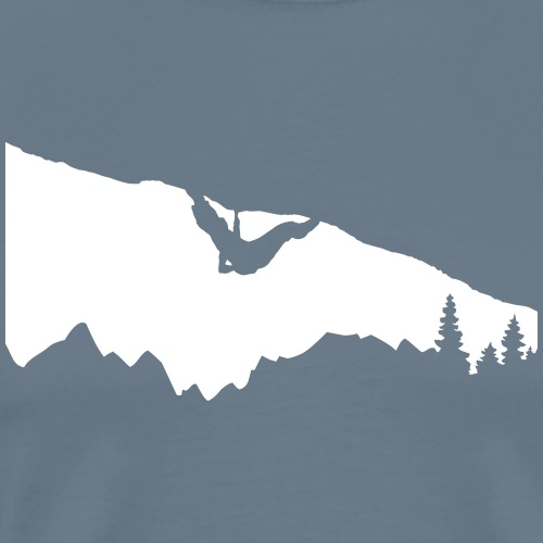 Boulderer im Überhang - Männer Premium T-Shirt