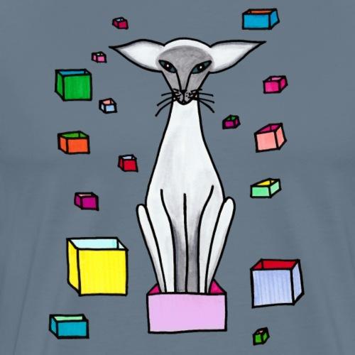Siames i låda - Premium-T-shirt herr