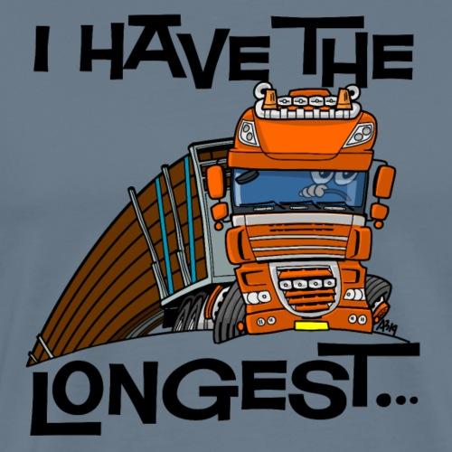 0793 D Truck I have the longest loads (FRONT+BACK) - Mannen Premium T-shirt