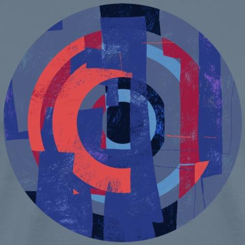 Circle design abstract colour 005 - Mannen Premium T-shirt