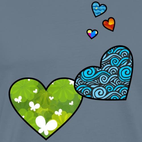 Herzchen - Männer Premium T-Shirt