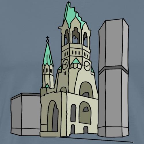 Chiesa dell'Imperatore Guglielmo Berlin c - Maglietta Premium da uomo