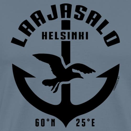 Laajasalo Helsinki Ankkuri tekstiilit ja lahjat - Miesten premium t-paita