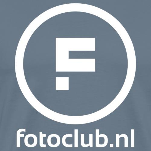 Logo Rond Wit met tekst - Mannen Premium T-shirt