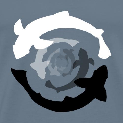 Fische yin-yang - Männer Premium T-Shirt
