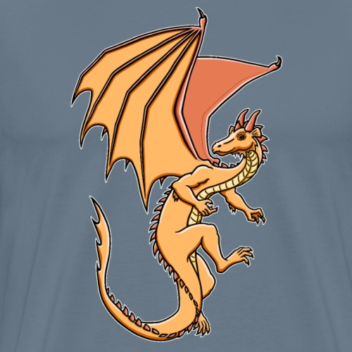 Drache, orange - Männer Premium T-Shirt