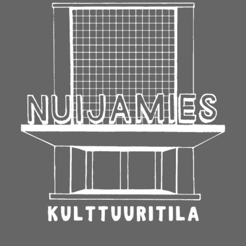 Nuijamies logo valkoinen - Miesten premium t-paita