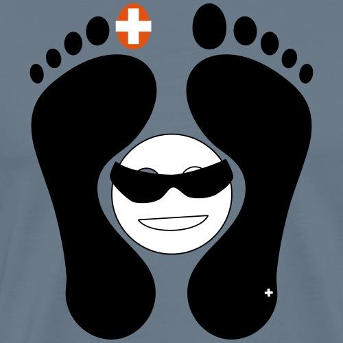 Barfuss-Logo mit coolem Smile - Männer Premium T-Shirt