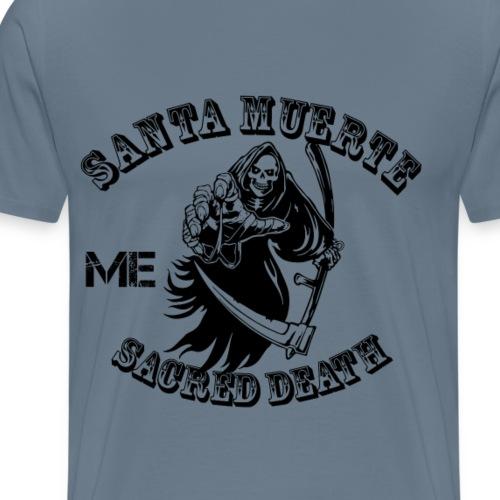 santa muerte me sacred death - Men's Premium T-Shirt