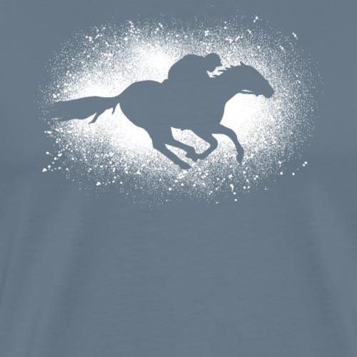 Cadeau de pur-sang en détresse grunge race galop - T-shirt Premium Homme