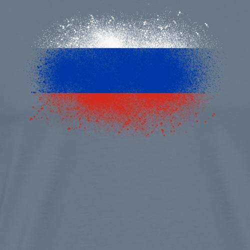 Russie grunge drapeau russe cadeau drôle - T-shirt Premium Homme