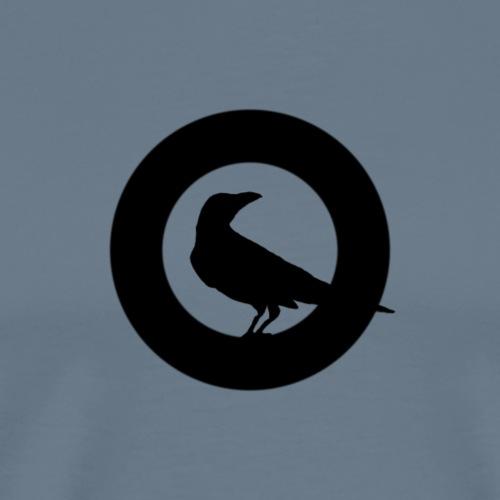 krähe kreis bl - Männer Premium T-Shirt