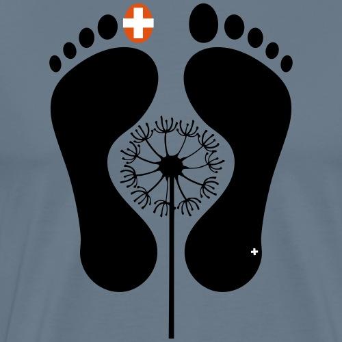 Barfuss-Logo mit Pusteblume - Männer Premium T-Shirt