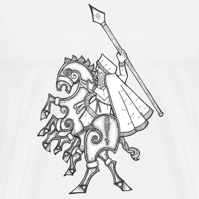 Odin, chevauchant Sleipnir
