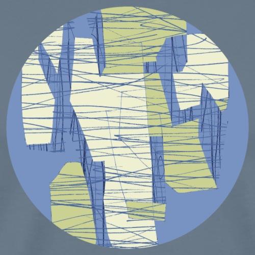Circle design geometric abstract 002 - Mannen Premium T-shirt