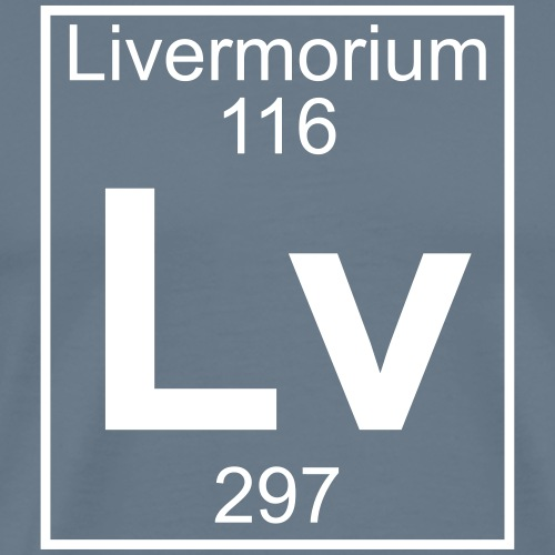 Livermorium (Lv) (element 116) - Men's Premium T-Shirt