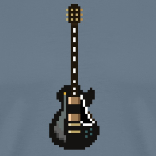 Gibson Les Paul Custom - Black Beauty Pixel Art - Men's Premium T-Shirt