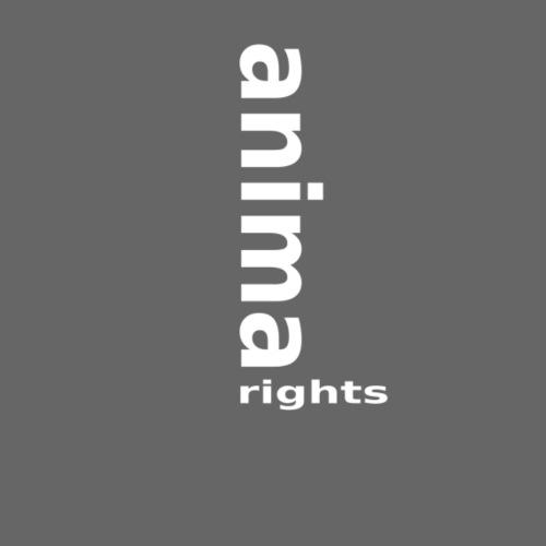 Animal Rights White up-logo - Men's Premium T-Shirt