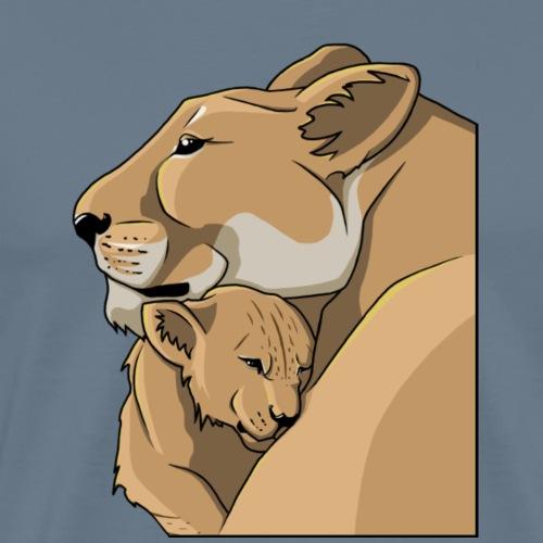 lionne et son lionceau - T-shirt Premium Homme