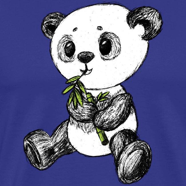 Panda Bär farbig scribblesirii