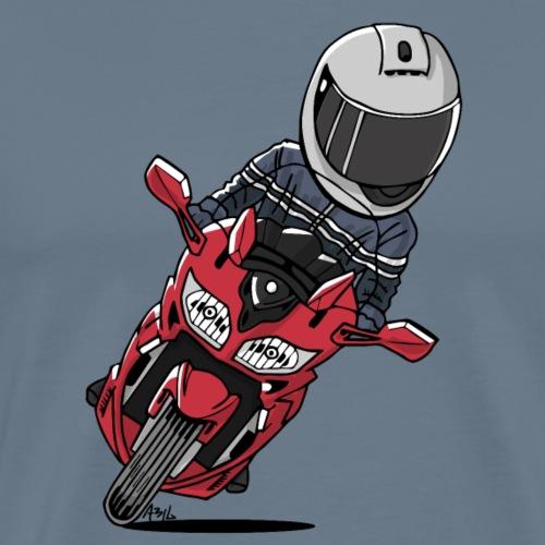 0790 FJR1300 Lava Red - Mannen Premium T-shirt