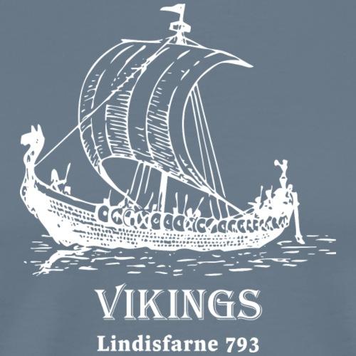 Vikings Lindisfarne 793 - Premium-T-shirt herr