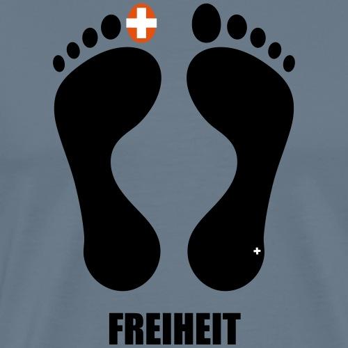 Barfuss-Logo Freiheit - Männer Premium T-Shirt