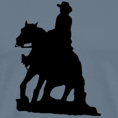 Reining Sliding Stop - Männer Premium T-Shirt