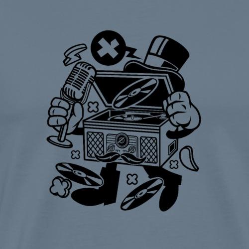 Klassischer Plattenspieler - Männer Premium T-Shirt