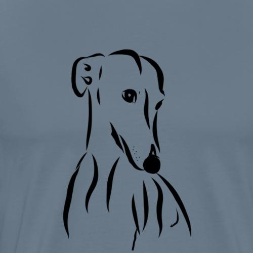 Galgo love - Mannen Premium T-shirt