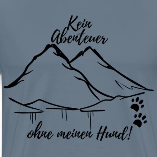 Kein Abenteuer ohne Hund schwarz