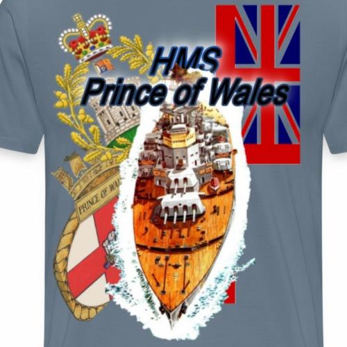 Prince of wales  Schlachtschiff - Männer Premium T-Shirt