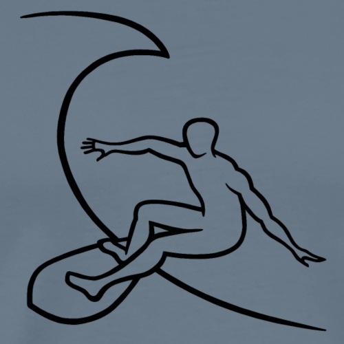 Surfer1 auf Welle Nr.1 - Männer Premium T-Shirt