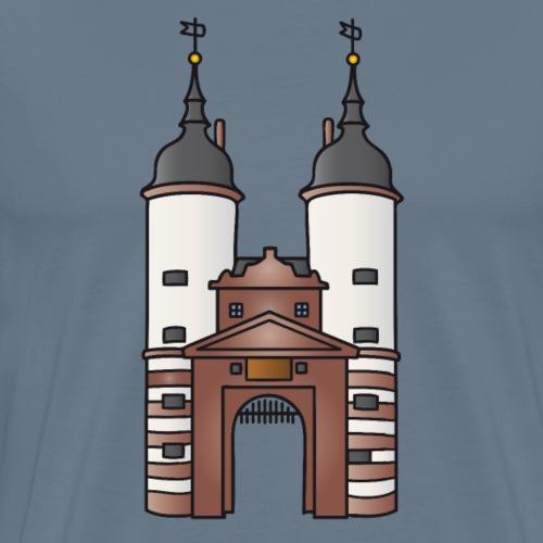 La porta del ponte Heidelberg - Maglietta Premium da uomo