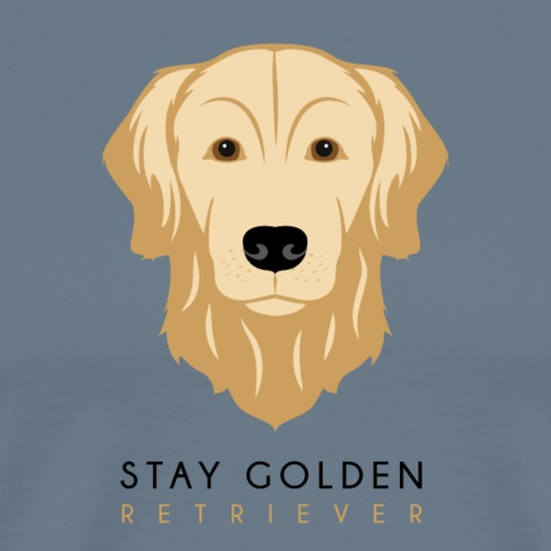 Golden Retriever - Dark - Maglietta Premium da uomo